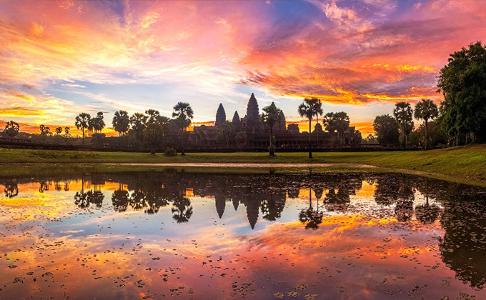 Drive safe to Angkor Wat Complex!
